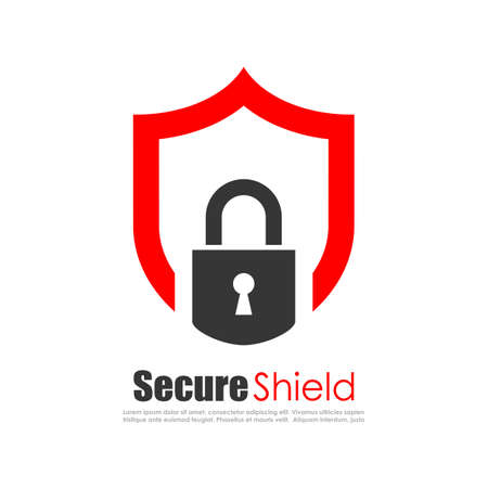 Secure protection abstract logo Illustration
