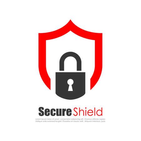 Sicherer Schutz abstrakt Logo Standard-Bild - 57297316