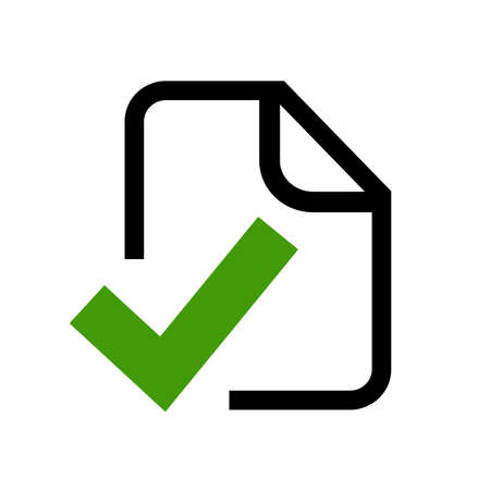 approved: Approved document icon Illustration