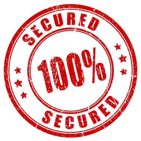 100 secured stamp