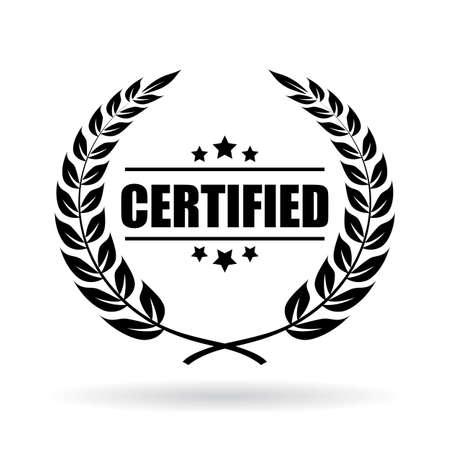 truthful: Certified product emblem Illustration