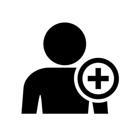 add: Add user pictogram Illustration
