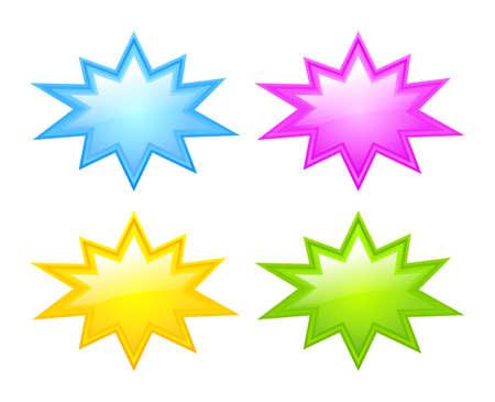 Scoppio stelle icone Vettoriali