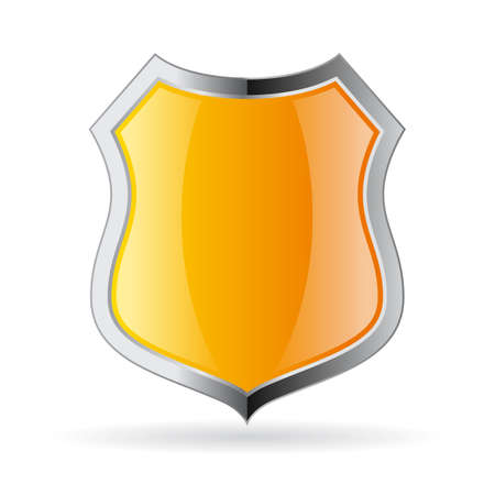 secure: Yellow secure shield icon