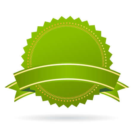 accreditation: Green certificate seal