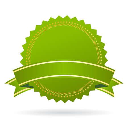 Green certificate seal Vetores