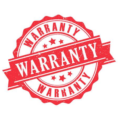 warranty: Warranty rubber stamp Illustration