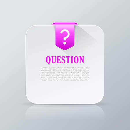 Pregunta tarjeta de información
