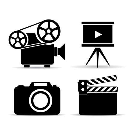 cinematograph: Video device icons set