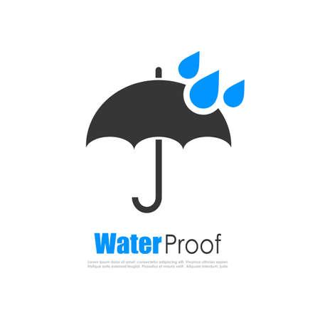 mojada: logotipo de la prueba del agua Vectores