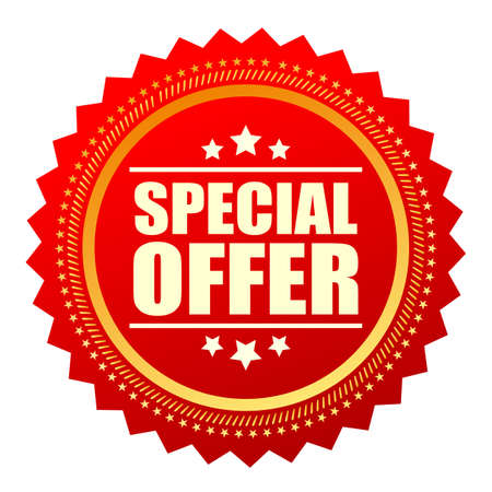 Special offer red star icon