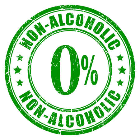 non: Non alcoholic rubber stamp
