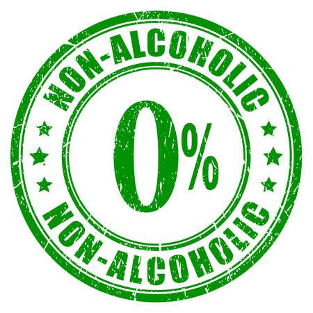 non alcoholic: Non alcoholic rubber stamp