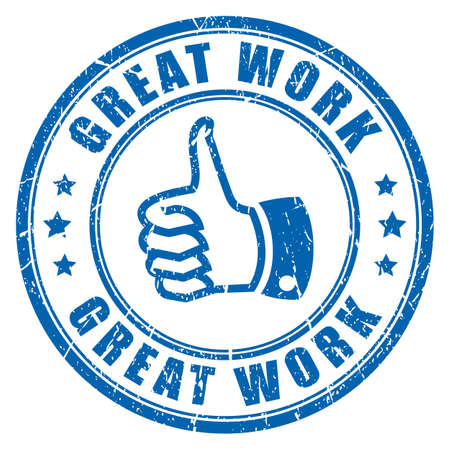 great work: Great work rubber stamp
