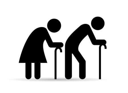pensioners: Old people icon