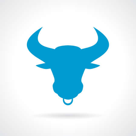 face profile: Bull horned icon
