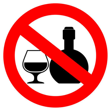 not permitted: No alcoholic drinks sign