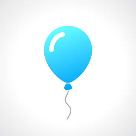 helium: Rubber helium balloon illustration Illustration