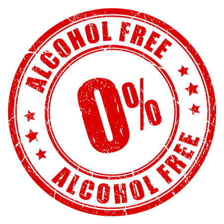 Alcohol free rubber stamp Stock Illustratie