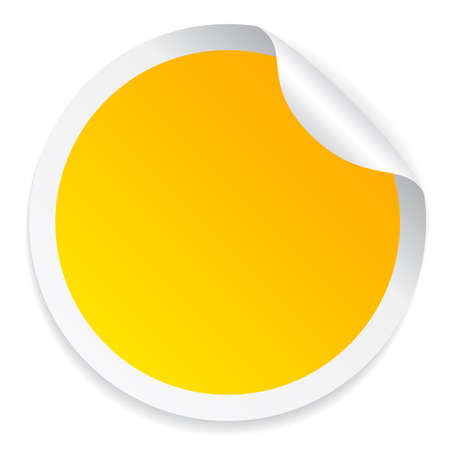 Round yellow sticker