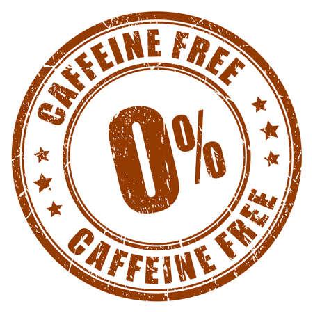 caffeine free: Caffeine free rubber stamp