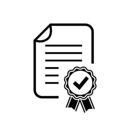 certificate icon: Diploma certificate icon
