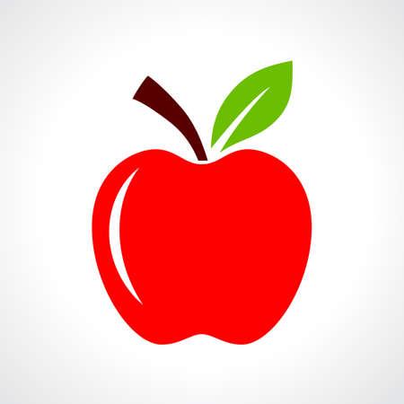 Ilustración vectorial de manzana roja Foto de archivo - 59213881