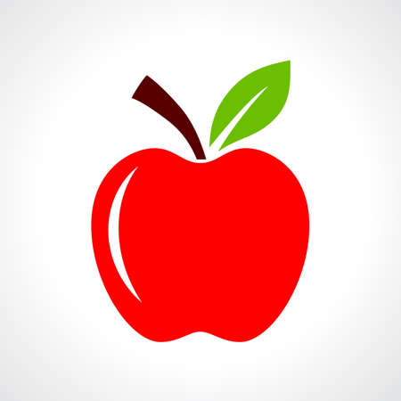 manzana roja: Ilustración vectorial de manzana roja Vectores
