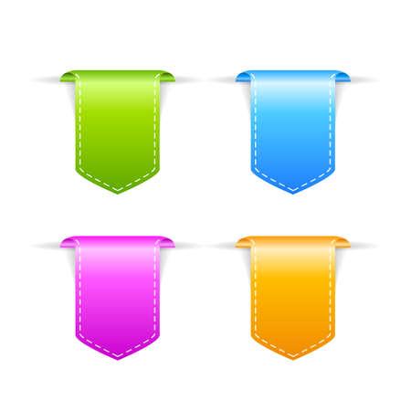ribbons vector: Corner vector ribbons Illustration