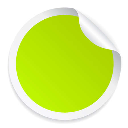 rolled: Green colorful round sticker Illustration