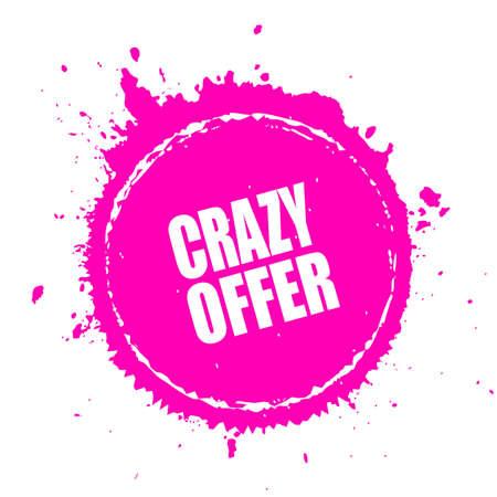 Crazy offer splash splatter Stock Vector - 59213890