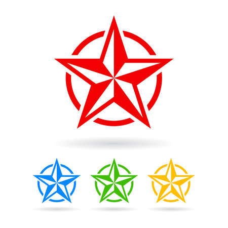 first grade: Abstract star icon Illustration