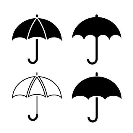 Umbrella pictogram Stock Illustratie