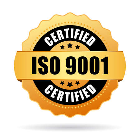 Iso 9001 standard certified icon Ilustrace