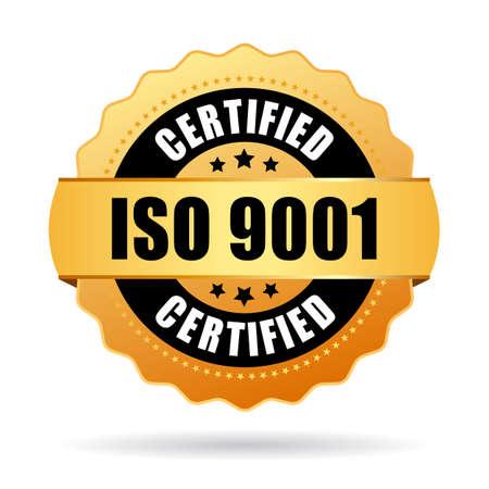 Iso 9001 zertifiziert Symbol Vektorgrafik