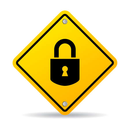entrance is forbidden: Padlock vector sign