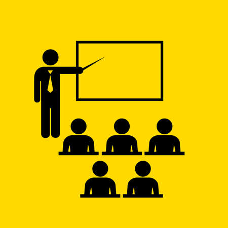 Teacher and audience symbol Illustration
