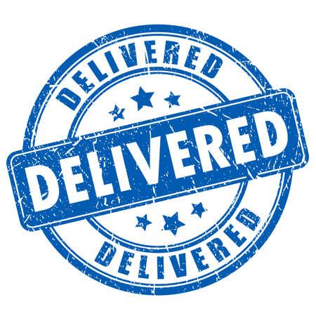 delivered: Delivered rubber stamp