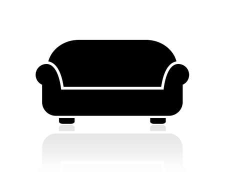 easy chair: Divan vector icon Illustration