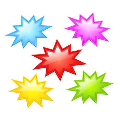 Colorful star icons Illustration