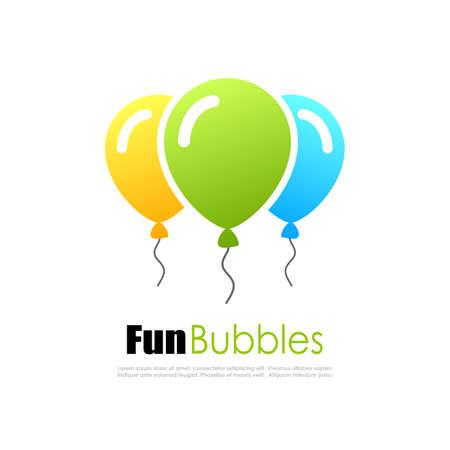 Colorful fun balloons logo