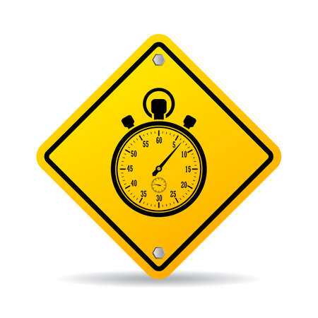 sec: Stopwatch vector sign