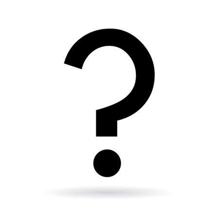 Question mark vector icon Illustration