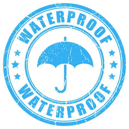 Waterproof ink rubber stamp