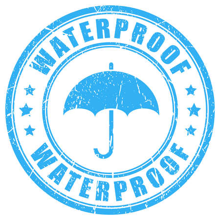 Waterproof ink rubber stamp