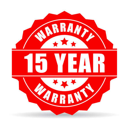 15 years warranty icon