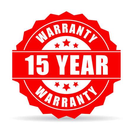15 years warranty icon