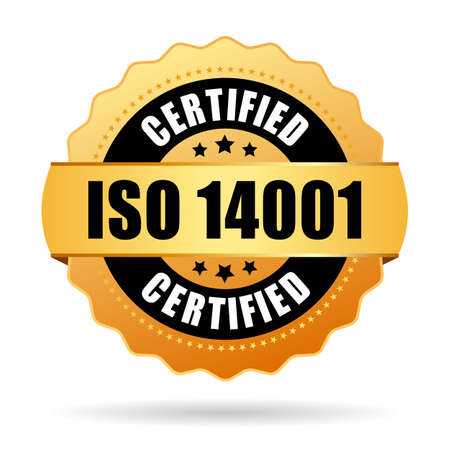 iso: Iso 14001 certified gold seal