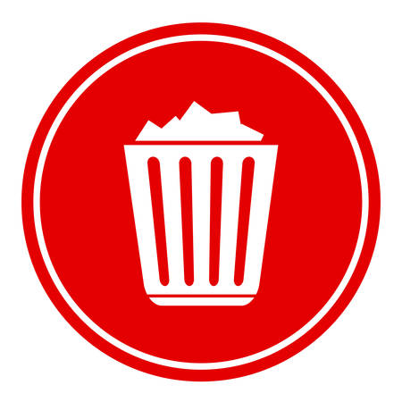filled: Filled recycle bin icon