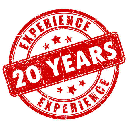 20 years experience rubber stamp